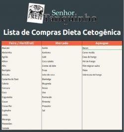 Lista de mercado para dieta cetogenica