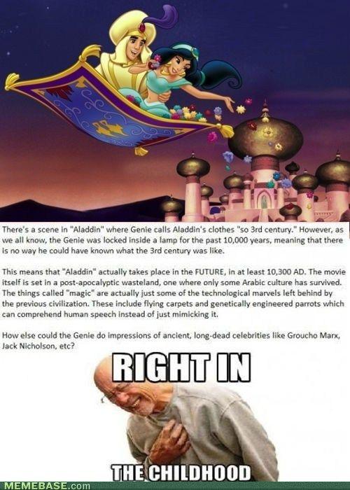 Interesting hypothesis...    #disney #aladdin
