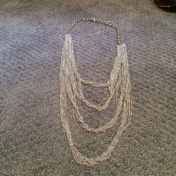 Layered Silver Necklace Super cute layered silver necklace. Length is adjustable. Jewelry Necklaces