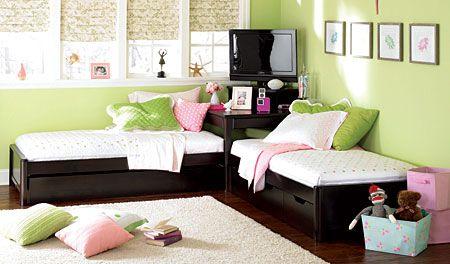 Midtown 2 Twin Platform Bed Set With Corner Desk 3 Drawer