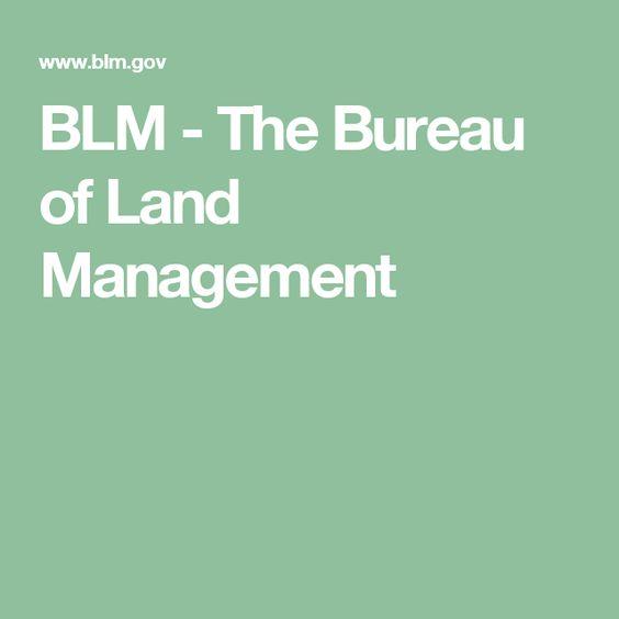 BLM - The Bureau of Land Management