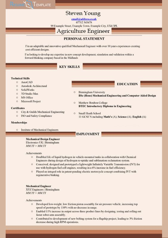 Resume and CVu0027s cvs Pinterest Resume help, Agriculture and - agriculture engineer sample resume