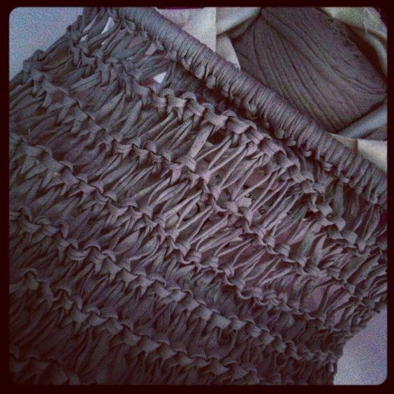 Punto tejido con trapillo trapillo crochet xxl - Puntos crochet trapillo ...