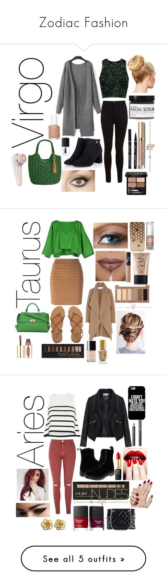 """""""Zodiac Fashion"""" by nycgirl125 ❤ liked on Polyvore featuring Opening Ceremony, Miss Selfridge, Straw Studios, Fig+Yarrow, Charlotte Tilbury, Gucci, Essie, NARS Cosmetics, Balmain and Maison About"""