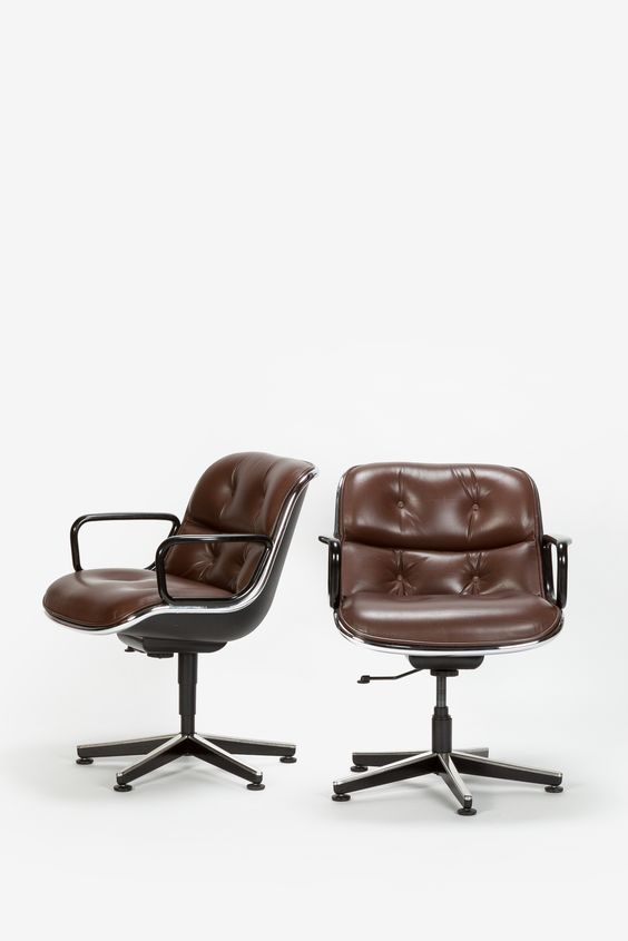 Pair of Pollock Executive Chairs 12E1 Knoll