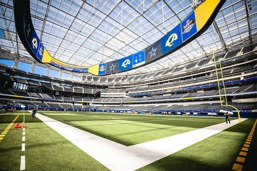 Sofi Stadium L A S 5 Billion Nfl Football Venue Debuts In 2020 Stadium Nfl Football Los Angeles Rams