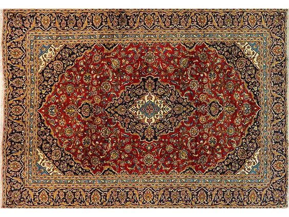 Persian Hand Knotted Kashan Carpet, 390 x 275