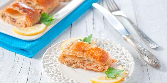 KochAbo.at - Thunfisch-Kartoffel-Strudel mit Schnittlauch-Zitronen-Dip