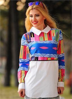 Bayan Bluz 2546 Gömlek Yaka