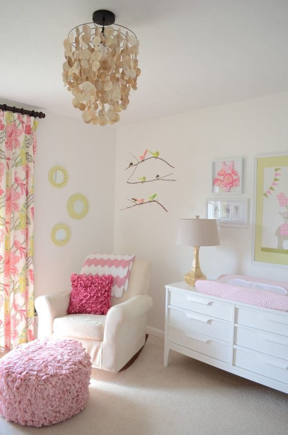This chandelier from @Cost Plus World Market is such an amazing touch! #nursery #nurserydecor