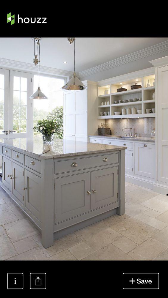 Light Gray And White Kitchen light grey shaker kitchens - google search | kitchen | pinterest