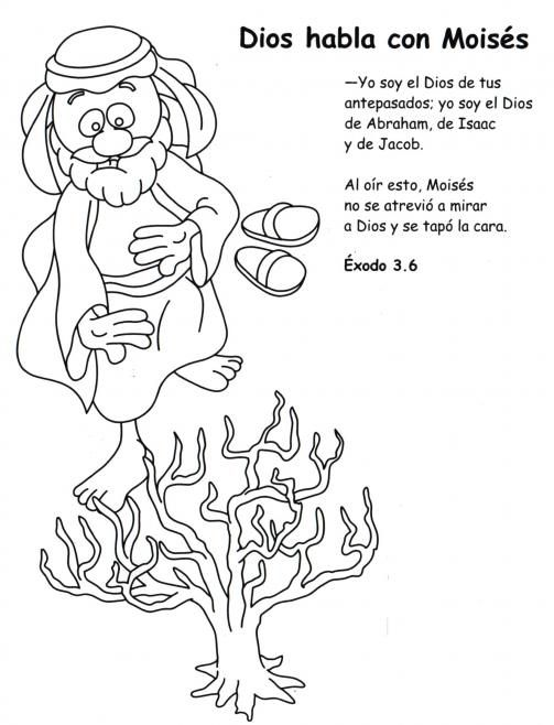 La Zarza Ardiente Lecciones De Biblia Para Preescolar Historias De La Biblia Para Ninos Lecciones Para Ninos Cristianos