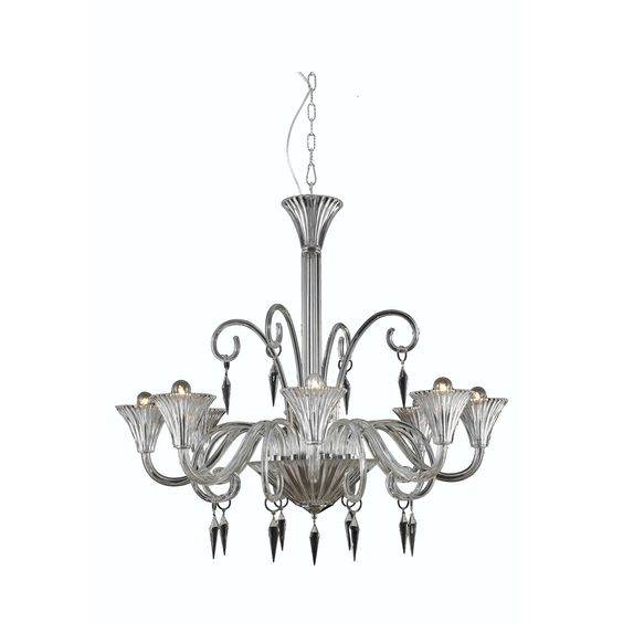 "Elegant Lighting 8808D37CL/EC Symphony Collection Dining Room Hanging Fixture D37"" x H36"" x Clear Finish (Elegant Cut Crystal Clear)"