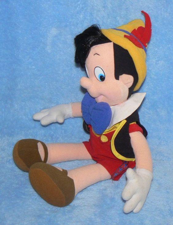 Pinóquio Grande Luxo Pelúcia Disney Temos Grilo Pinocchio - R$ 279,99 no MercadoLivre