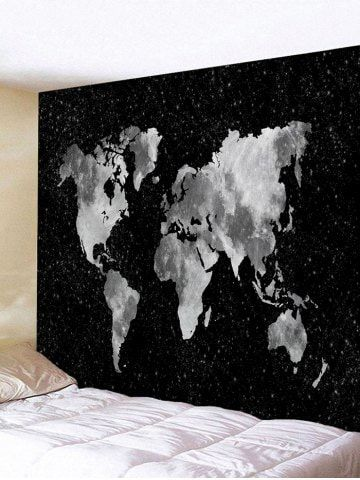 World Map Tapestry Black And White : world, tapestry, black, white, Black, Galaxy, World, Print, Tapestry, Tapestry,, Stickers, Bedroom,