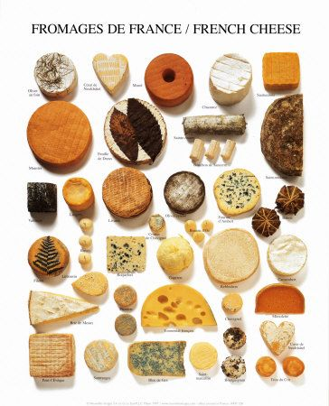 all types of cheese