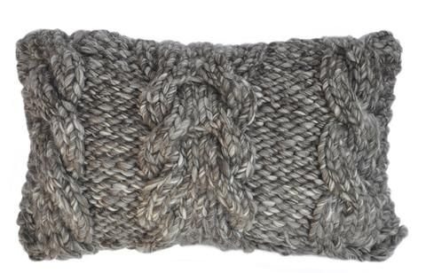 Trenzas Cable Knit Wool Pillow