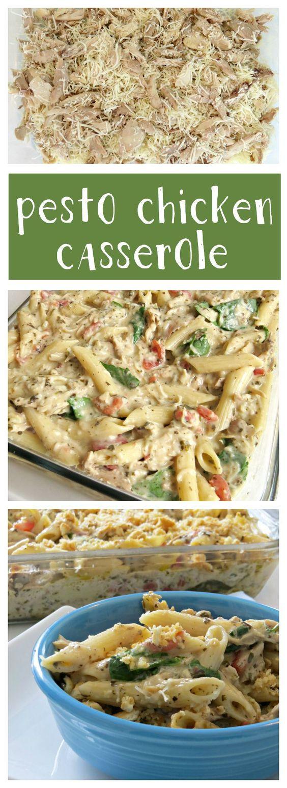 Pesto chicken, Chicken casserole and Casserole recipes on Pinterest
