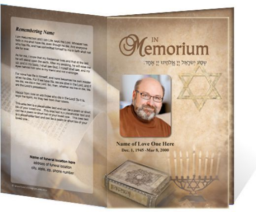 memorial service programs sample program courtesy of the - memorial pamphlet template free