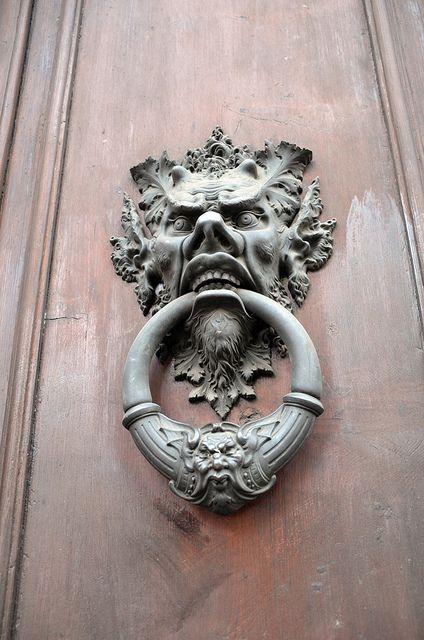 Gargoyle Door Knocker Doors And Stairs Pinterest