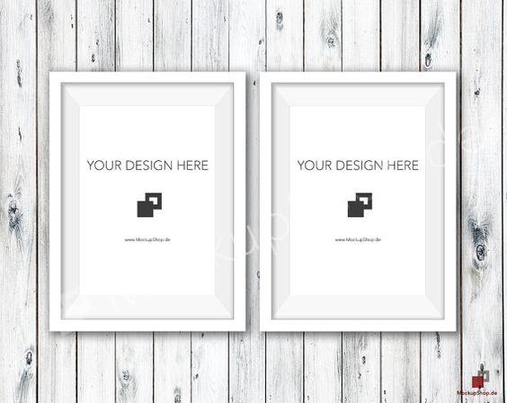 5 x 7 weißen Rahmen MOCKUP / 2er Set / alte weiße von MockupShop #mockup #mockupframe #framemockup # mockupdesign #etsy