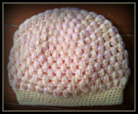 Pastel Puff Baby Hat by KnittingLove4U on Etsy, $12.00