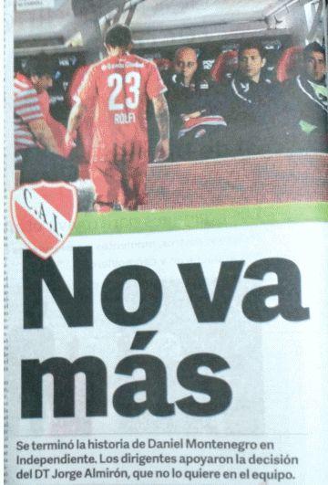 INDEPENDIENTE SIN CENSURA: Clarín: Rolfi Montenegro no va mas, por acuerdo en...