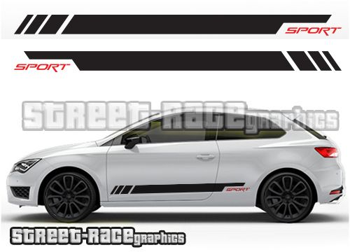 Seat Leon Racing Stripe Graphics From Www Street Race Org
