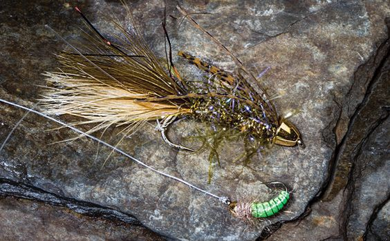 Fly fishing 5 top tandem rig combos for tough trout for Fly fishing rig