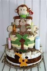 Image result for diaper cake jungle theme