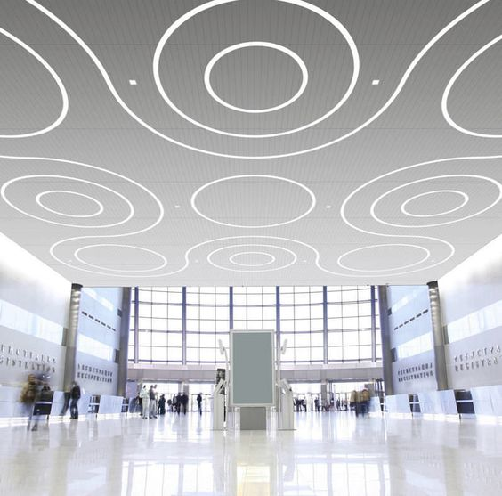 Interior Design Lighting Ideas Jaw Dropping Stunning: Linear Recessed LED Ceiling Light Fixture In Modular