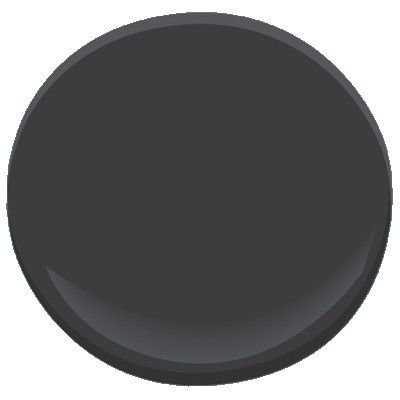 Benjamin Moore & Co. Black Iron # 2120-20, great color for Exterior shutters/door