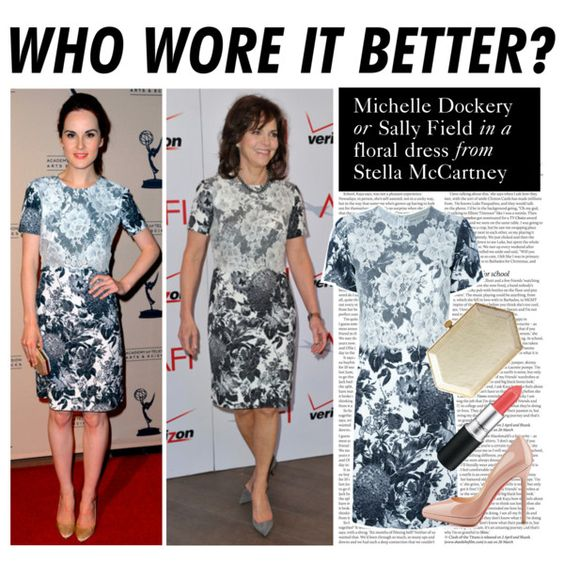 """""""Who Wore It Better: Michelle Dockery or Sally Field"""" by polyvore-editorial on Polyvore"""
