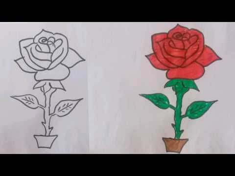 How To Draw A Flower Step By Step Roses Drawing Drawings Rose Step By Step