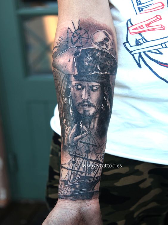Pinterest the world s catalog of ideas for Captain jack sparrow tattoo