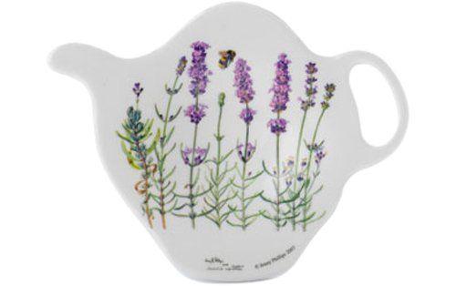 ** Ashdene I Love Lavender 2.9 by 3-3/4-Inch 100-Percent Melamine Tea Bag Holder Ashdene