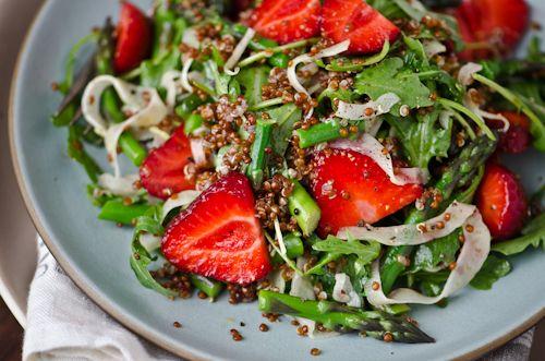 strawberry quinoa asparagus salad | Recipes | Pinterest | Asparagus ...