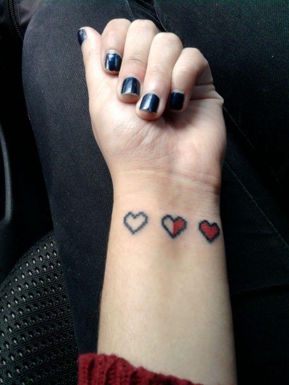 Tatouages de cœur · my heart tattoo