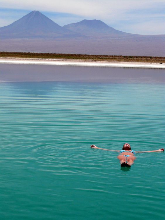 Float in the Laguna Cejar whilst taking in the spectacular view of the Atacama…
