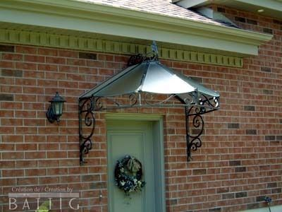 glass wrought iron door awning - Google Search ...