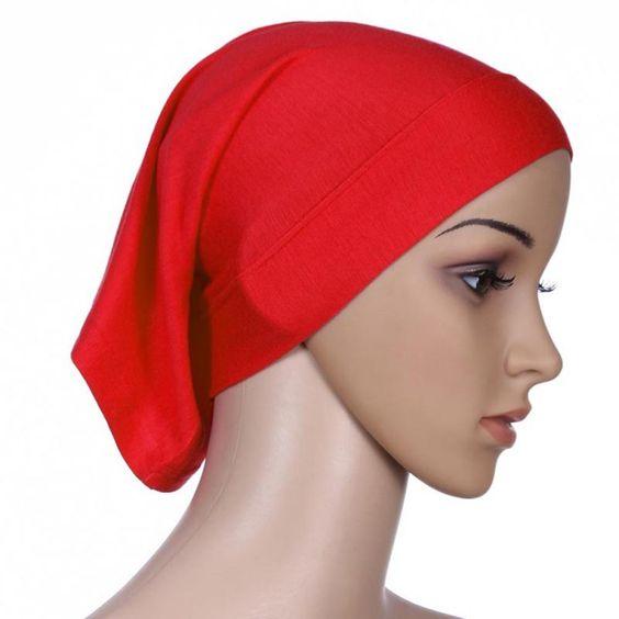 Sous Écharpe Hijab Tube Bonnet Cap Os Islamique Femmes Couverture de Tête  de La