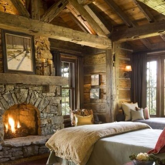 Rustic Wood Beams And Barnwood Wo A Definite Future Master Bedroom Idea D Home Is Where The