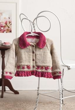 Embroidered Daisy Cardigan  pattern - not free but so sweet: