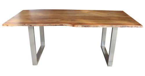 Esstisch Baumkante Baumstamm Holz Tisch Massivholztisch Akazie