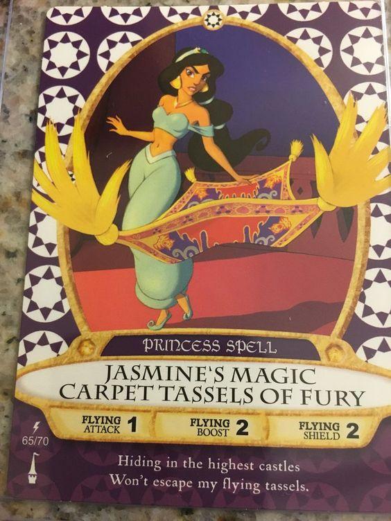 Walt Disney World Sorcerers of the Magic Kingdom Card #65 Jasmine Magic Carpet Tassels of Fury