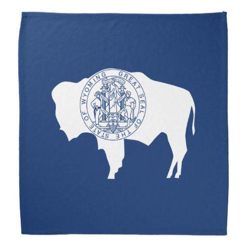 Patriotic Wyoming State Flag Bandana Wyoming State State Flags Wyoming