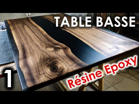 Table Basse Diy Resine Epoxy Noyer Noir Americain Partie 1 Youtube En 2020 Resine Epoxy Epoxy Table De Resine