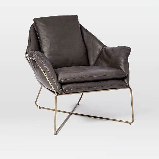Origami Leather Lounge Chair | west elm