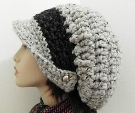 Free Crochet Chunky Newsboy Hat Pattern : Newsboy cap, Slouchy hat and Arbors on Pinterest