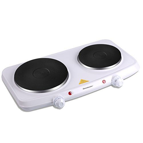 Homeleader Double Hot Plate 1500w Stainless Steel Portable Induction Cooktop Countertop Burner With Dual